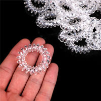 10x Clear Elastic Telephone Line Wire Hair Band Ropes Holders Head Accessory mi