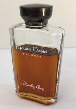 Vintage Dorothy Gray Golden Orchid Cologne 3/4 Full Bottle Perfume Created 1942