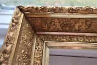 "SM ANTIQUE FIT 6 X 8"" GOLD GILT PICTURE FRAME WOOD GESSO ORNATE FINE ART COUNTRY"