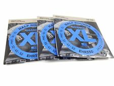 D'Addario Guitar Strings  3 Pack  Electric  EHR350  Half Rounds  Light