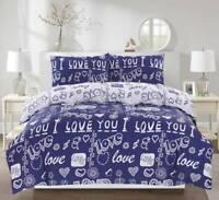 I Love You Bedding Set Duvet Cover Pillow Cases Quilt Cover All Sizes