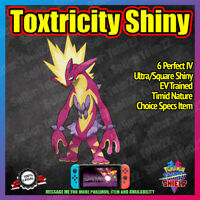 TOXTRICITY Shiny | BATTLE READY | Perfect 6IV | Pokemon Sword & Shield