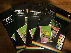 80 sheets Polaroid Premium photo paper 4x6  48 lb Gloss Paper 9 mil inkjet print