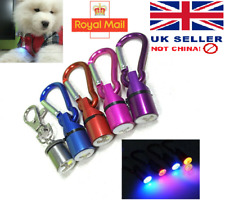 Waterproof Pet Dog Cat Collar LED Night Safety Clip Flashing Light UK SELLER