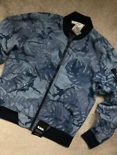 "G-STAR RAW LT WT BLUE LOCKSTART ""RACKAM DC"" ZIP BOMBER JACKET COAT - LARGE NEW"