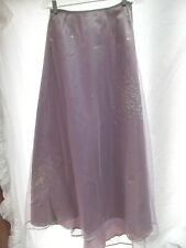 Express skirt sz 4 tall lavender satin tulle sequin long maxi party formal NEW
