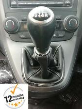 Honda Crv CR-V Mk3 2006-2012 Genuine Leather Gear Gaiter Shift Boot White Stitch