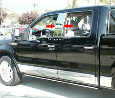 2004-2014 Ford F-150 Super Cab/Crew Cab Chrome Pillar Post Trim Stainless Steel