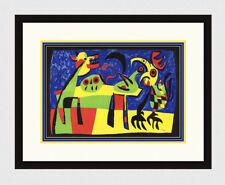 "1952 JOAN MIRO ORIGINAL SIGNED Lithograph ""Dog Barking at the Moon"" FRAMED COA"