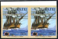"TUVALU.1988.VOYAGES.50cVARIETY""IMPERF""UN/MINT. PAIR"