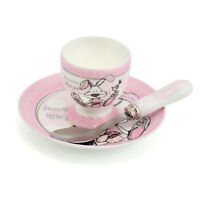 Little Miracles Kids Saucer Plate Egg Cup Toddler Child Breakfast Pink Gift Set