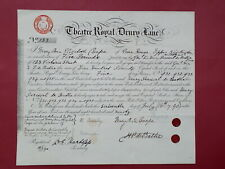 More details for transfer share certificate 1890 theatre royal drury lane #133 (covent garden)