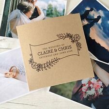 1x personalised 'Floral' CD DVD cover / sleeve for wedding photos video