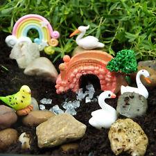 Miniature Fairy Garden Fairytale Bridge & Birds by Mowbray Miniatures (8 pcs)