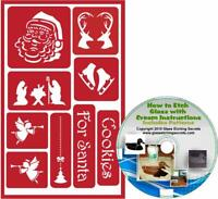 Santa & Christmas Holiday Reusable Stencils: Adhesive Stencils with Reindeer