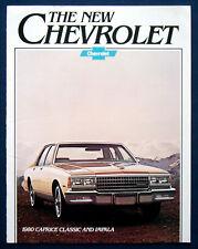 Prospekt brochure 1980 Chevrolet Chevy Caprice Classic * Impala (USA)