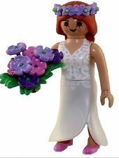 Playmobil Mystery Figure Series 9 5599 Bride With Flower Bouquet Hair Wreath NEW