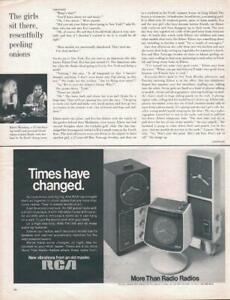 1970 RCA PRINT AD Times have Changed Clock Radios Fun Decor Great Documenting Ad