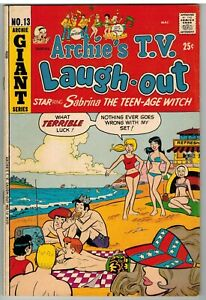ARCHIE'S TV LAUGH-OUT #13 1972 BRONZE AGE GIANT 52 PAGES NICE!