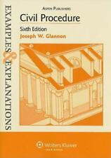 Examples and Explanations: Civil Procedure by Joseph W. Glannon (2008,...