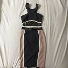 Celeb Boutique Grey Pink Skirt Top Size Xs Size 6 Party Co Ord V812