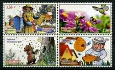 2020 Tajikistan, insects, bees, butterfly, beekeeping, 4 stamps, MNH