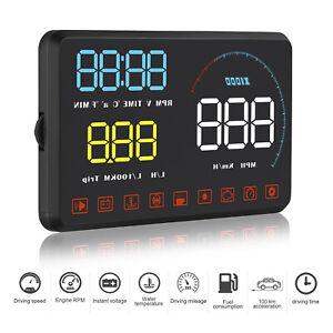 A9 Car HUD Head Up Display OBD2 EUOBD GPS MPH/KM OverSpeed Warning System Tool