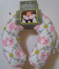Girls Blankets & Beyond Pink Grey Green Elephant Baby Travel Neck Pillow