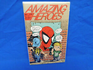 Amazing Heroes #179 VF+ Todd McFarlane Spider-Man Cover & Interview