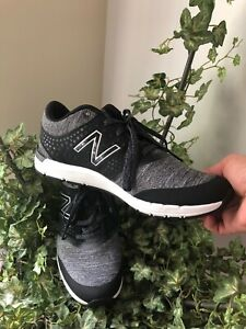 New Balance Women's 577v4 Heathered Trainer Shoes Black with Grey Size 8 NEW!