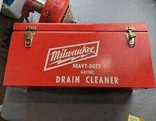 Milwaukee Electric HEAVY DUTY Drain Cleaner 0566-1 W/Case