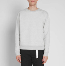 MAISON MARGIELA FW18 Plastic Elbow Patch Washed Crewneck Gray Sweatshirt XL NWT!