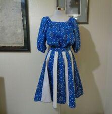 New listing Fashions By Marilee Blue Bandana Print Rockabilly Square Dance Skirt Top Set S