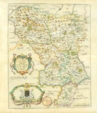 1673 1st ISSUE Map Derbyshire 'A MAPP OF THE COUNTY OF DARBYE' by Richard Blome