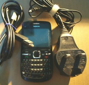 Nokia C3 Black (Unlocked) WiFi Smartphone; Good Battery, Charger & USB cable