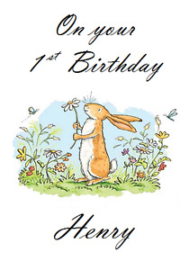 PERSONALISED BIRTHDAY CARD GUESS HOW MUCH I LOVE YOU 1st GREETINGS 2ND 3RD 4TH