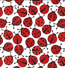 Robert Kaufman, Urban zoologie, ladybird /lady bug fabric by the FQ+