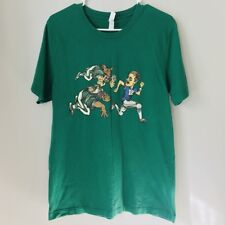 NFL Eagles Chasing Tom Brady Patriots Men's Green Large Graphic T-Shirt