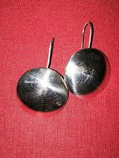 Sterling Silver Earrings Round Convex