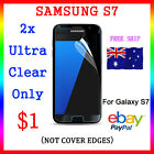 "2x LCD HQ Ultra Clear Screen Film Display Protector Samsung Galaxy S7 5.1"" Au"