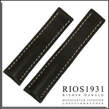 20x18 mm RIOS1931 for Panatime - Mocha Pilot - Leather Watch Band For Breitling