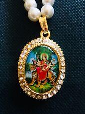 DURGA MAA Pendant - Locket With 108+1 Pearl Necklace Hindu Religious ENERGIZED