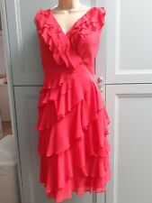 Monsoon vintage pink party/ cocktail lined dress size 16