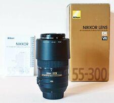 Nikon Nikkor AF 55-300mm F/4.5-5.6 DX G BOXED with 58mm Marumi UV filter