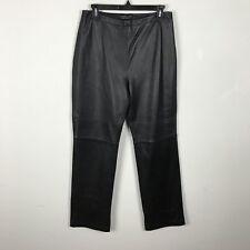 Croft & Barrow Lambskin Leather Pants Size 8 Black Soft Womens