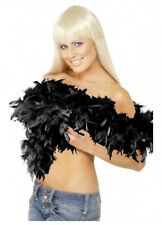 Delux Black Feather Boa 1920's 1920s Costume Party Fancy Dress Burlesque Flapper