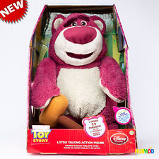 "Disney Store Toy Story 3 Lotso Huggin Stuffed Talking Bear 15"" Plush Strawberry"