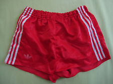 Short Adidas Ventex Rouge Vintage satin brillant nylon Oldschool 80'S - L