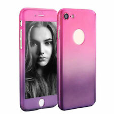 Hybrid 360 ° Shockproof Flower Pattern Case + Tempered Glass PC Cover For iPhone