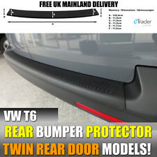 VW TRANSPORTER T6 2015 >REAR PLASTIC BUMPER PROTECTOR BLACK WITH REAR BARN DOORS